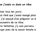 フランス語日記「夢で見たスープ」Une soupe que j'avais vu dans un rêve.